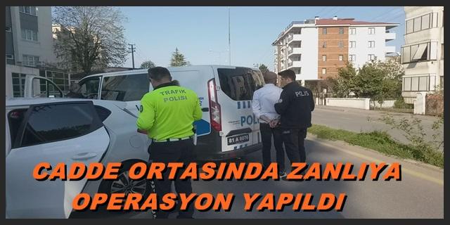 Polisten Kaçan Zanlıya Akçakoca Emniyet Birimlerince Operasyon Yapıldı