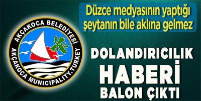 Düzce Basını Yalan Haberle Akçakoca Belediyesini Aldattı