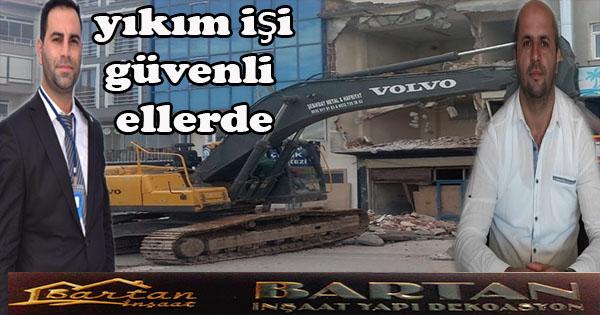 Çuhalı çarşısındaki bina yıkım işi başladı