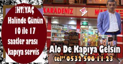 Karadeniz market kurumsal marketlerle yarışıyor
