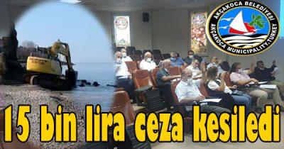 Dün Acil toplanan encümen de 15 liralık cezayı onandı