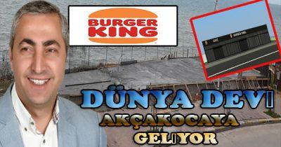 Dünyanın en büyük Fast food Firması Akçakocaya şube açıyor