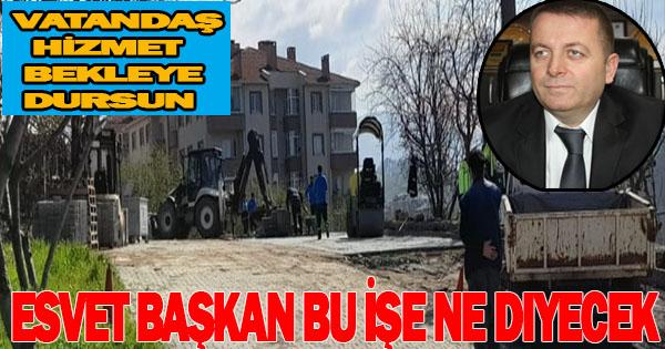 Belediyenin Tüm imkanları Okan Başkanın evin önünde seferber edildi
