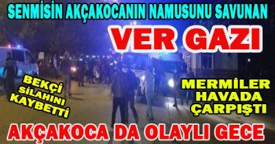 iki Azeri Vatandaşı'nın yolda yürüyen bayanlara laf atma olayına sahip çıkan Akçakocalıların olayı  Karakolada sonlandı